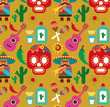 Mexico - vector pattern with icons