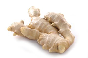 Ginger on white