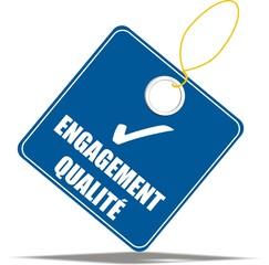 étiquette engagement qualité