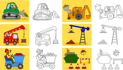 Coloring page for little kids about heavy industry
