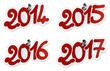 2014, 2015, 2016, 2017 stickers or tags