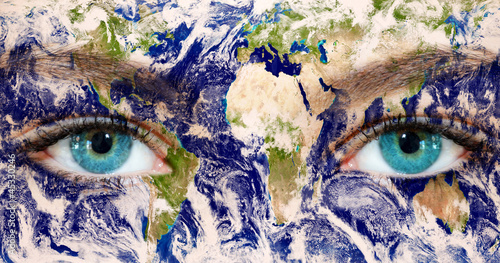 Earth eyes - Earth Texture by NASA.Gov