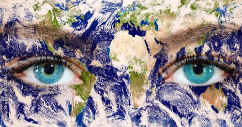 Earth eyes - Earth Texture by NASA.Gov
