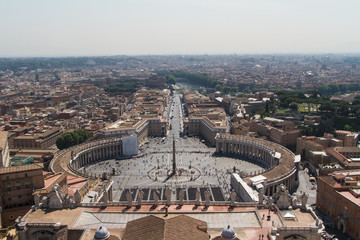 St. Peter's Square from Rome in Vatican State
