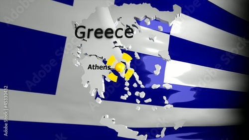 Crisis location map series, Greece.