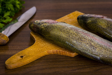 Two raw trouts