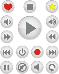 boutons musique