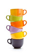 Colorful cups tower