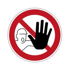 Schild Betreten verboten
