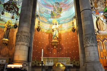 The Temple Expiatori del Sagrat Cor. Inside the crypt.