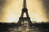 Eiffel Tower sepia vintage/retro style
