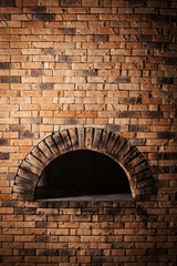 A traditional oven for cooking and baking pizza.