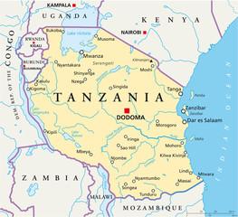 Tanzania map (Tansania Landkarte)