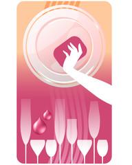 Etichetta detersivo piatti - Aceto