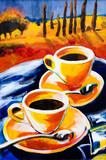 Fototapeta Two cups of coffee
