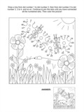 Fototapety Connect the dots picture puzzle and coloring page