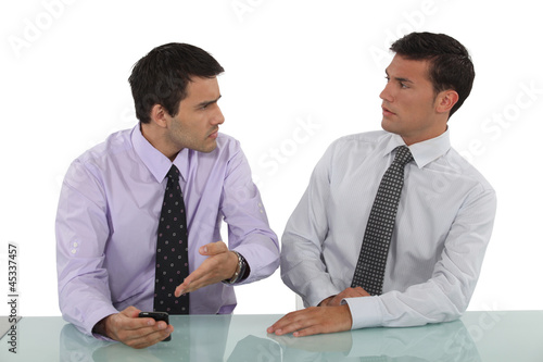 Two businessmen having argument