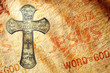 Cross on grunge background