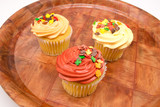 Cupcake with autumn decoration