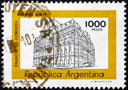 Postage stamp Argentina 1979 Central Post Office, Buenos Aires