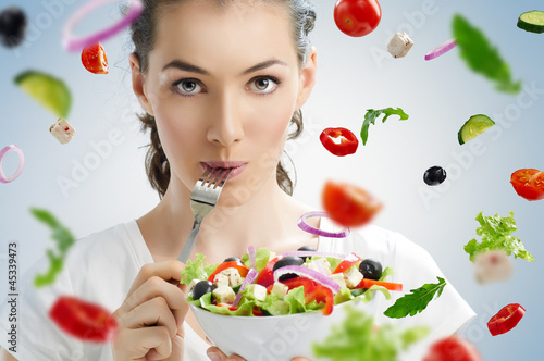 eating healthy food - 45339473