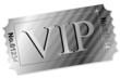 Ticket - VIP auf Silber