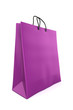 3d render of a purple shopping bag