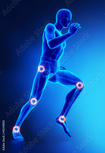 Joints leg injury concept