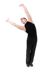 young gymnast posing