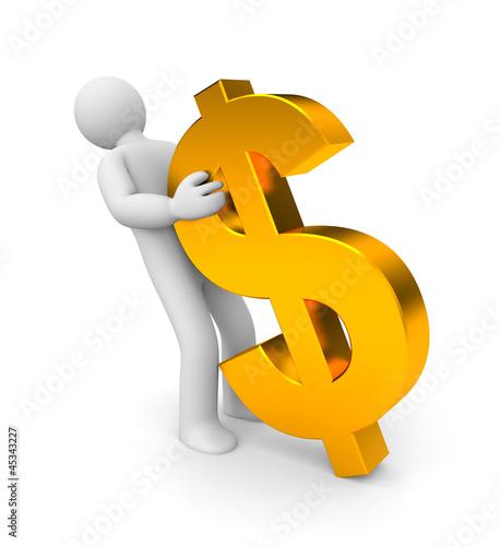 Man pulls dollars