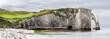 Cliffs of Etretat Panorama, Normandy, France