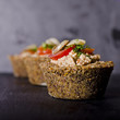 small raw food quiche