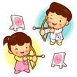 Archery games, South Korea children.