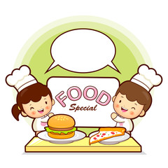 Kids Chef fast food promotion