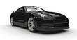 Black Sports Car Front 2