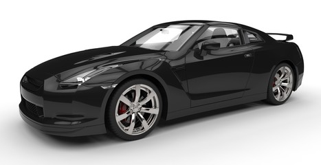 Black Sports Car Front