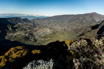 Paysage de montagne, cirque de Cilaos, la Réunion