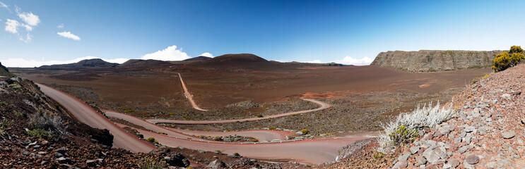 Route de la plaine des sables, volcan du piton de la fournaise