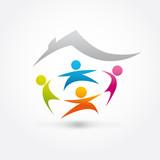 Fototapety logo association, logo entreprise