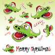 Merry Christmas alligator