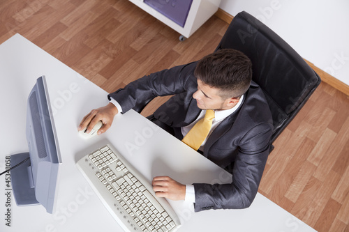 Businessman at his office