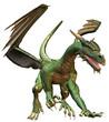 Green Fantasy Dragon