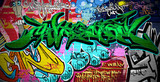 Graffiti Art Vector Background Urban wall