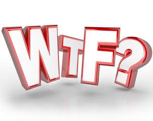 WTF Letters Abbreviation Shocking Surprise Expression