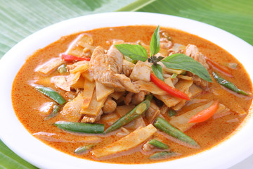 Red Curry Beef with Bamboo Shoots