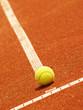 Tennisplatz Linie mit Ball 53