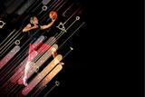 Fototapeta Basketball player with a ball