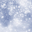 Elegant blue christmas background. EPS 8