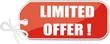 étiquette limited offer