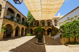 Courtyard of a typical house in Cordoba, Spain